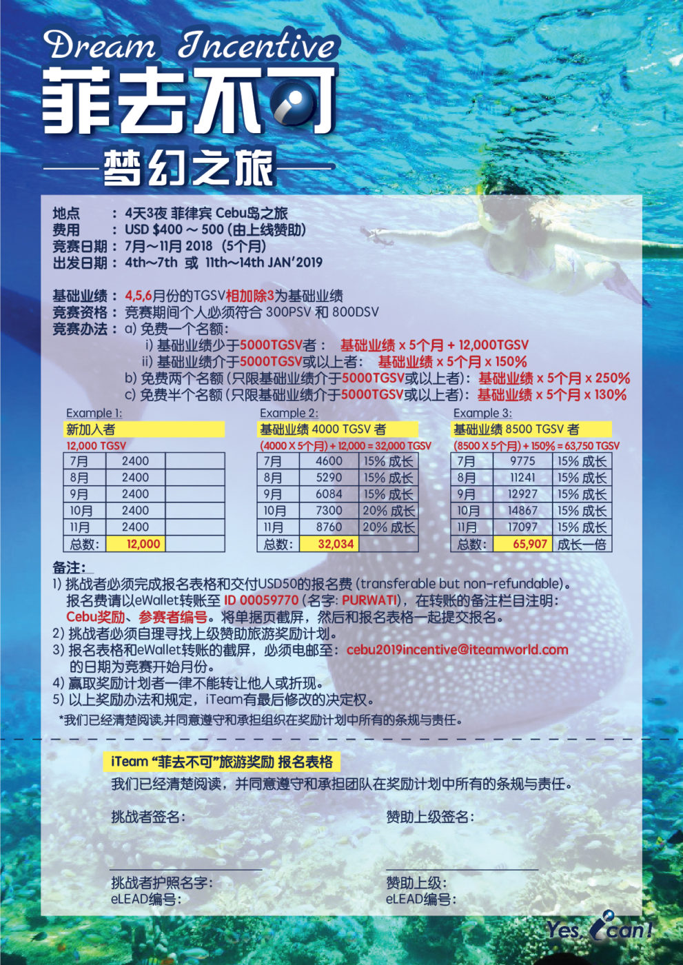 2018 – 菲去不可, 梦幻之旅 (Dream Incentive)
